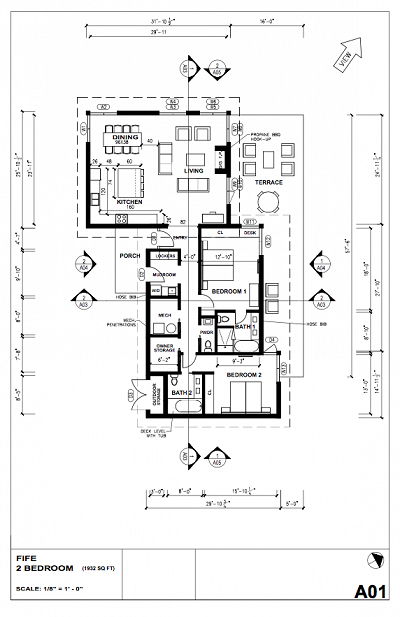 2 Bedroom plan