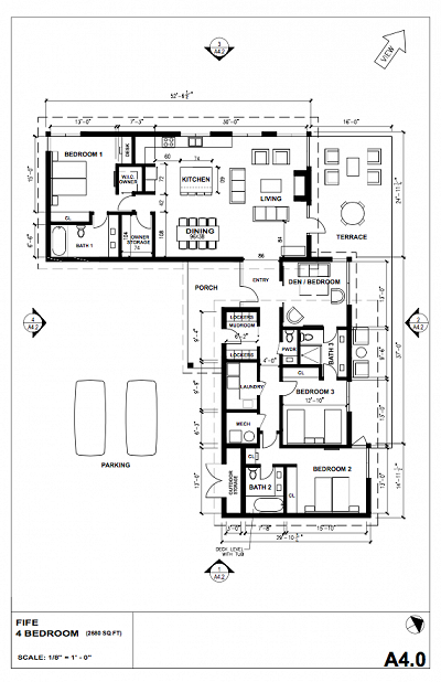FIFE Four bedroom plan